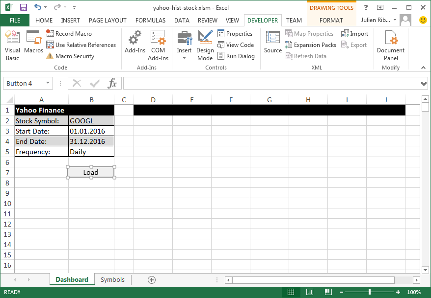 How To Import Historical Stock Data From Yahoo Finance Into Excel