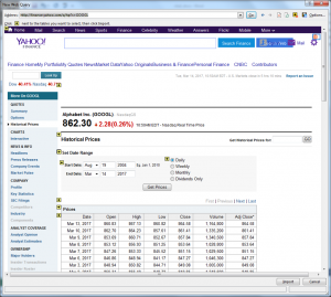 How to import historical stock data from Yahoo Finance into